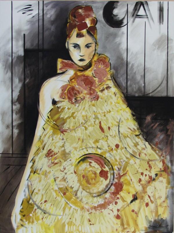 Cuadro figurativo de SERA CLIMENT. Pintura en acrílico en 130X97cm y 150x100cm. Pintura arte