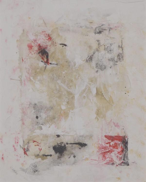 Obra abstracta de C.GRAU. Pintura en acrilico en 125x125 cm