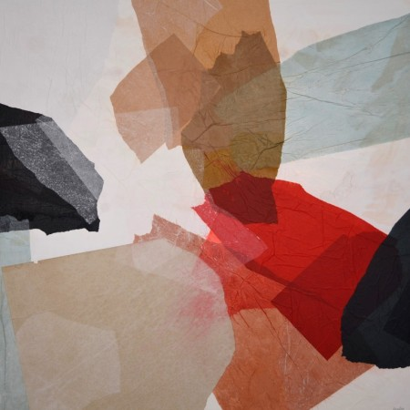 Obra abstracta de GUIRAO. Pintura en acrilico en 125x125 cm