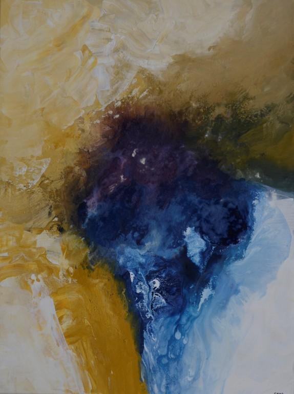 Cuadro abstracto de la artista EMMA. Pintura en acrilico en 130x97cm y 150x100cm. Pintura arte