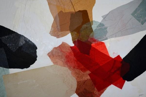 Obra abstracta de GUIRAO. Pintura en acrilico en 130x97 cm y 150x100 cm.