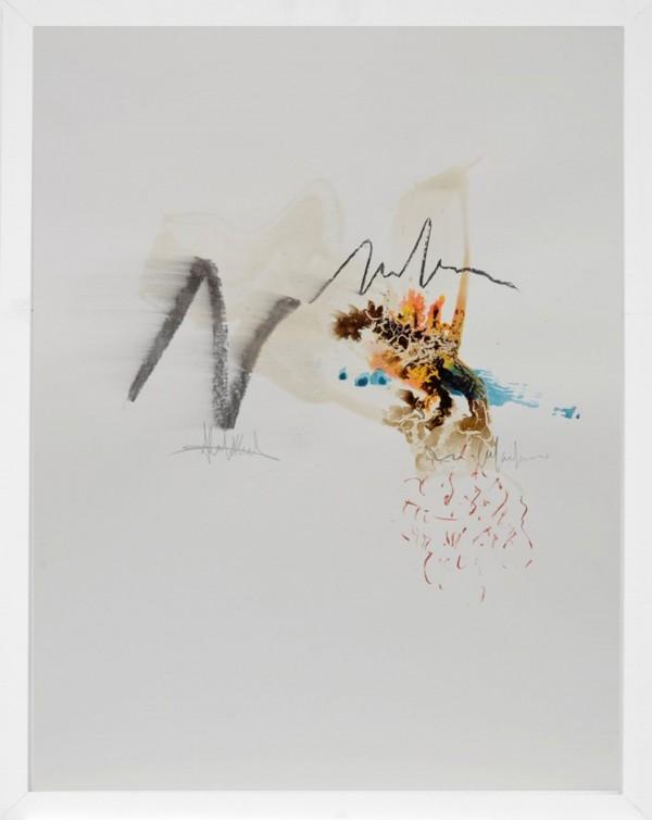 Cuadro abstracto enmarcado del artista MEDINA. Pintura en acrílico en 60x80cm y 50x70cm. Pintura arte