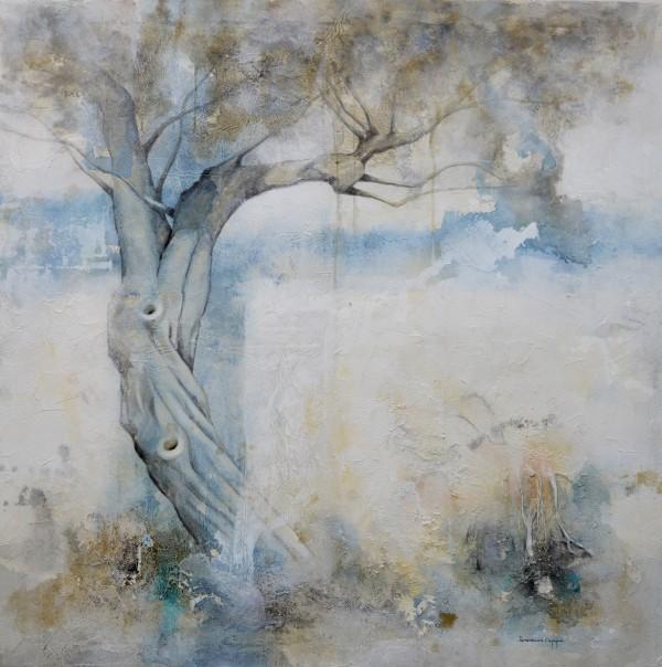 Cuadro figurativo del artista JEREMIAS . Pintura en acrílico en 150x150cm