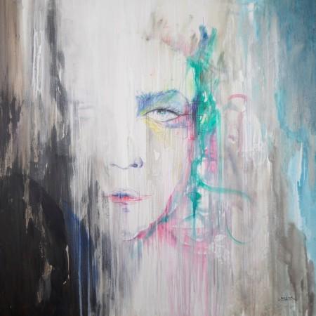 Cuadro figurativo de BAENA. Pintura en acrilico en 150x150cm
