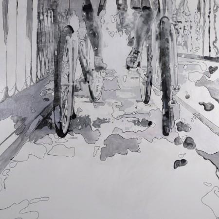 Cuadro figurativo del artista E.PONT. Pintura en acrilico en 125x125cm